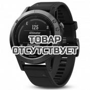 Умные часы черные с черным ремешком Garmin Fenix 5 Sapphire
