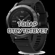 Умные часы серые с черным ремешком Garmin Fenix 5