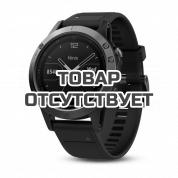Умные часы серые с черным ремешком и пульсометром Garmin Fenix 5 HRM-Tri