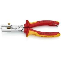 Клещи с накатанной головкой и контргайкой для удаления изоляции электроизолированные KNIPEX KN-1366180T