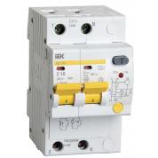 Дифференциальный автоматический выключатель IEK АД12М 2Р С10 30мА