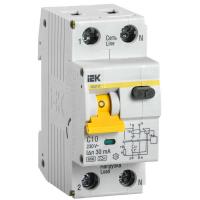 Автоматический выключатель дифференциального тока IEK АВДТ32 C10