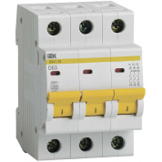 Выключатель автоматический IEK ВА47-29 3Р 63А 4,5кА D