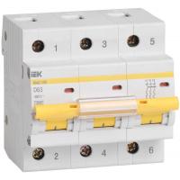 Выключатель автоматический IEK ВА47-100 3Р 40А 10кА D