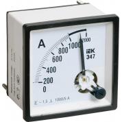 Амперметр аналоговый IEK Э47 1000/5А класс точности 1,5 72х72мм