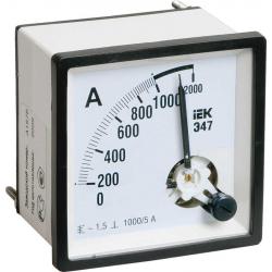 Амперметр аналоговый IEK Э47 200/5А класс точности 1,5 72х72мм