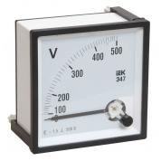 Вольтметр аналоговый IEK Э47 600В класс точности 1,5 72х72мм
