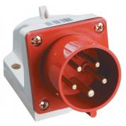 Вилка стационарная IEK ССИ-525 3Р+РЕ+N 32А 380-415В IP44