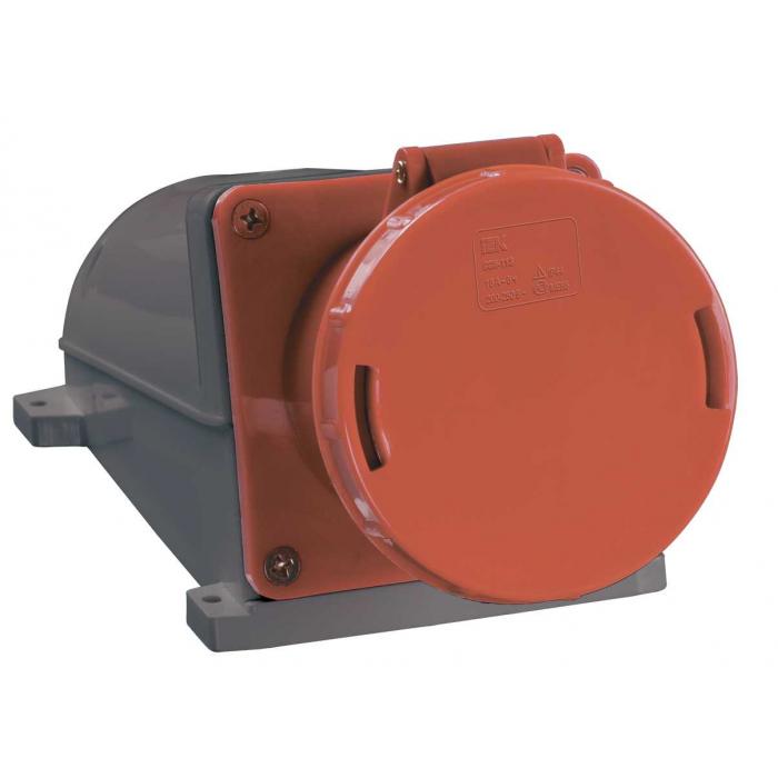 Розетка стационарная IEK ССИ-145 3Р+РЕ+N 125А 380-415В IP54