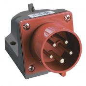 Вилка стационарная IEK ССИ-515 3Р+РЕ+N 16А 380-415В IP44