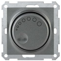 Светорегулятор поворотный с индикацией IEK СС10-1-1-Б 600Вт BOLERO антрацит