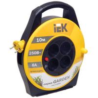 Катушка УК10 с термозащитой 4 места IEK 2P/10м 2х0,75мм2 GARDEN