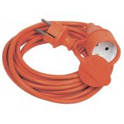 Шнур IEK УШ-01РВ с вилкой и розеткой 2P+PE/20м 3х1,0мм2 IP44 оранжевый