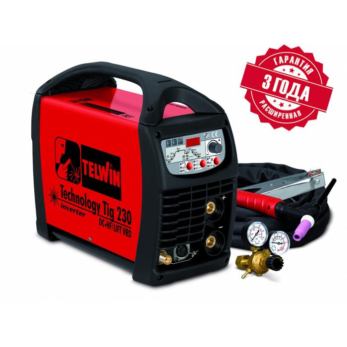 Сварочный аппарат Telwin TECHNOLOGY TIG 230 DC-HF/LIFT 230V +ACC