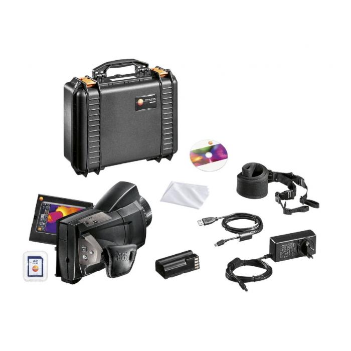 Комплект testo 885 с супер-телеобъективом и дополнительным объективом