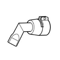 Щелевая насадка Leister 20 мм, 60° изогнутая левая