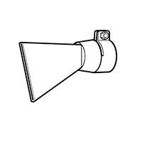 Широкая щелевая насадка Leister 80 мм, насаживаемая