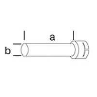 Трубная удлиняющая насадка, Leister насаживается ( а х b ), 160 х 36.5 мм