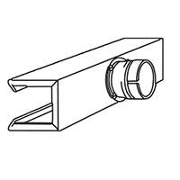Рефлекторная насадка П-образная Leister 45 х 250 мм для равномерной усадки