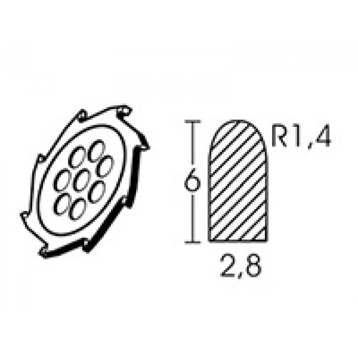 Твердосплавный диск круглой формы Leister Ø 110 х 2.8 мм