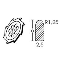 Твердосплавный диск круглой формы Leister Ø 110 х 2.5 мм