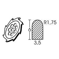 Твердосплавный диск круглой формы Leister Ø 110 х 3.5 мм