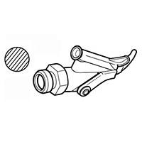 Насадка быстрой сварки Leister для профильного прутка Ø 4 мм с клином, навинчиваемая