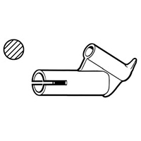 Насадка быстрой сварки для профильного прутка Ø 4 мм, насаживается на стандартную насадку Leister Ø 5 мм