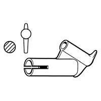 Насадка быстрой сварки для профильного прутка Leister Ø 3 мм, с зауженным выходом, насаживается на стандартную насадку Ø 5 мм