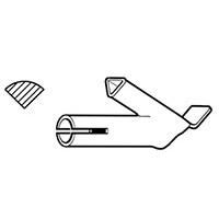 Насадка быстрой сварки для профильного прутка, насаживается на стандартную насадку  Leister Ø 5 мм, 5.7 мм, профиль А