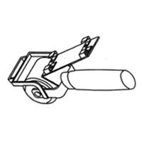 Прикаточный ролик Leister для наварки полос шириной до 40 мм