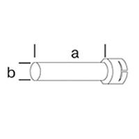 Трубная удлиняющая насадка Leister, насаживается ( а х b ), 200 х 45 мм