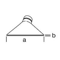 Широкая щелевая насадка Leister, насаживается ( a x b ), 150 х 12 мм