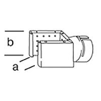 Решетчатая рефлекторная насадка Leister, насаживается ( a x b ), 70 х 75 мм