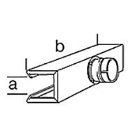 Рефлекторная тоннельная насадка Leister, насаживается ( a x b ), 50 х 400 мм