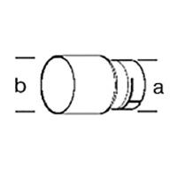 Адаптер Leister, насаживается, а Ø 50 мм, на b Ø 62 мм