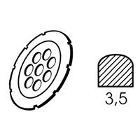 Алмазный диск Leister Ø 110 х 3.5 мм полукруглой формы