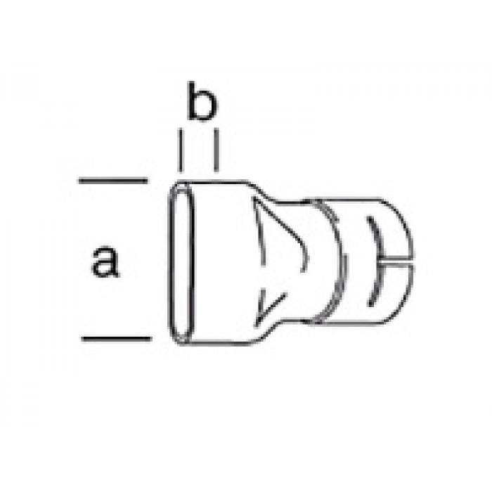 Широкая щелевая насадка Leister 40 х 5 мм