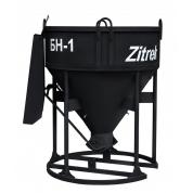 Бадья для бетона Zitrek БН-1.0 (лоток) стандарт