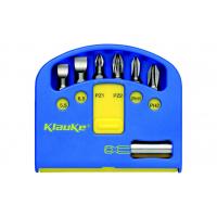 Комплект 6 бит L=25 мм ( 5,5 / 6,5 / PZ1 / PZ2 / PH1 / PH2 ) и магн. битодержатель KLAUKE KL340