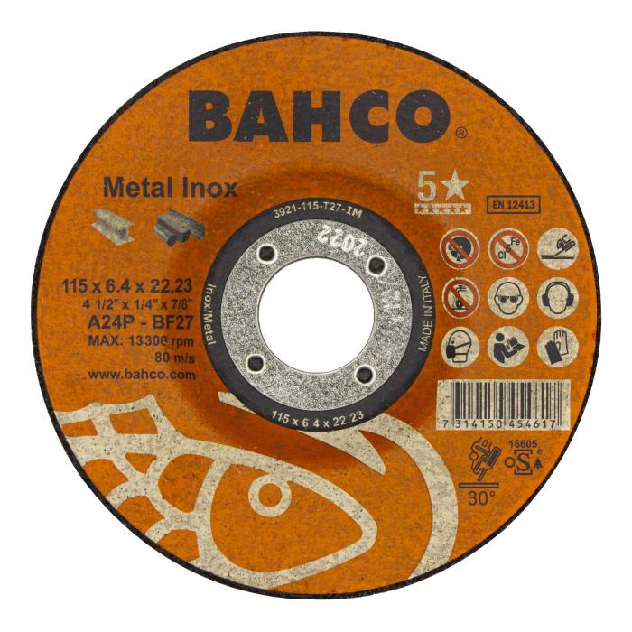 Высокороизводительный диск для шлифования Bahco 3921-180-T27-IM