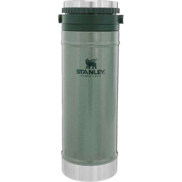 Термокружка STANLEY Classic с кофе-прессом 0,47L, Зеленый