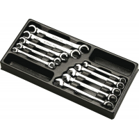 Набор ключей разрезных, комбинированных Hans в ложементе TT-30