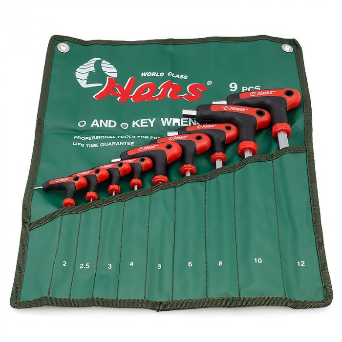Набор шестигранных ключей L-образных Hans 16775-9M
