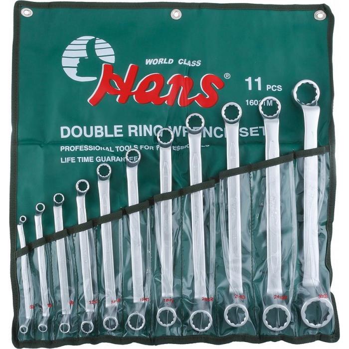 Набор накидных гаечных ключей Hans 16011M