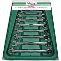 Набор ключей трещоточных комбинированных Hans 16658MUB 8 предметов