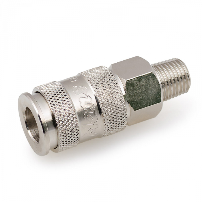 """Пневматическое быстроразъемное соединение с наружной резьбой 1/4"""" G Hans 8513-2Q"""