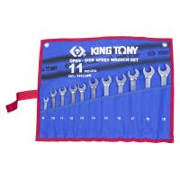 Набор комбинированных трещоточных ключей KING TONY 14111MRN