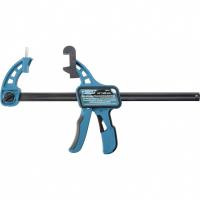 Струбцина реечная быстрозажимная GROSS 24, пистолетного типа, пошаговый механизм, пластиковый корпус , 600 мм