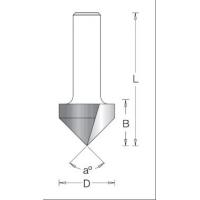 Фреза V паз 90 гр. D31,8x25,4 L63,5 хвостовик 12 DIMAR 1050229